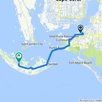 14947–14957 Westport Dr, Fort Myers to Wildlife Dr, Sanibel
