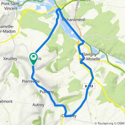 Itinéraire vers Route de Pierreville 16, Frolois