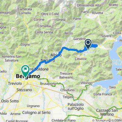Da Piazza Monte San Michele 1, Endine Gaiano a Via Carlo Ceresa 2M, Bergamo