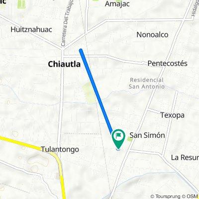 De Avenida Río Chiquito 7–9, Santa María Tulantongo a Avenida Río Chiquito, Santa María Tulantongo