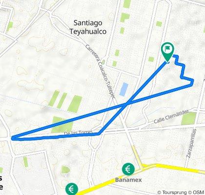 De Calle 5 21, Santiago Teyahualco a Calle 5 21, Santiago Teyahualco