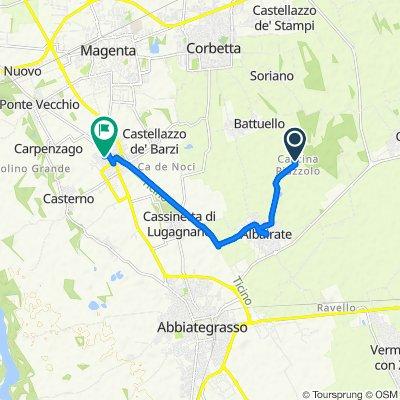 Da Strada per Riazzolo, Cascina Riazzolo a Via Santa Croce 9, Robecco Sul Naviglio