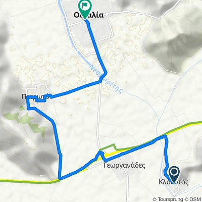 Unnamed Road, Klokotos to 25ης Μαρτίου 5, Οιχαλία