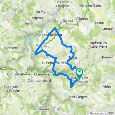 De Grand Rue 56, Marcillat-en-Combraille à Grand Rue 56, Marcillat-en-Combraille
