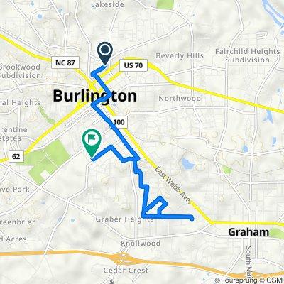Union Avenue 403, Burlington to Avon Avenue 622, Burlington