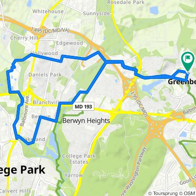 2 Northway Rd, Greenbelt to 2 Northway Rd, Greenbelt