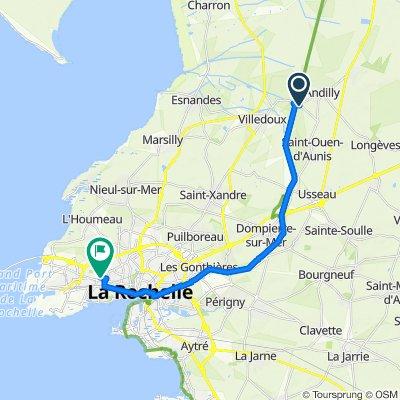 De 9 Les Longeards, Andilly à Avenue Robert Schumann, La Rochelle