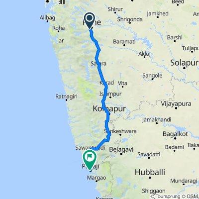 Sun City Road, Pune to Dayanand Bandodkar Marg, Panaji