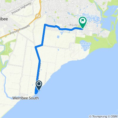Route to Club Lane, Point Cook