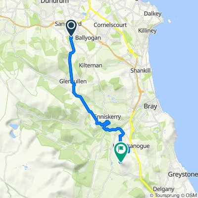 Route from 23 Belarmine Dr, Dublin 18