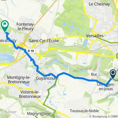 De Rue Charles de Gaulle 88, Jouy-en-Josas à Allée du Héron 6, Bois-d'Arcy