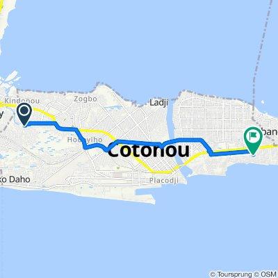 Itinéraire vers Rue 1350, Cotonou