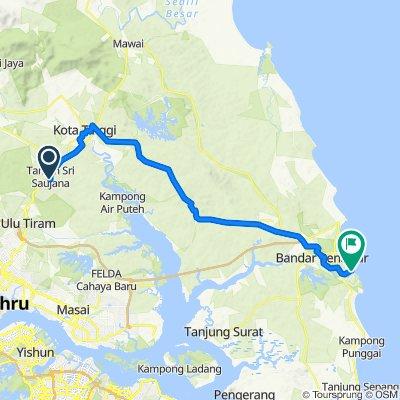 Jalan SS 8/2 14, Kota Tinggi to Malaysia, Bandar Penawar