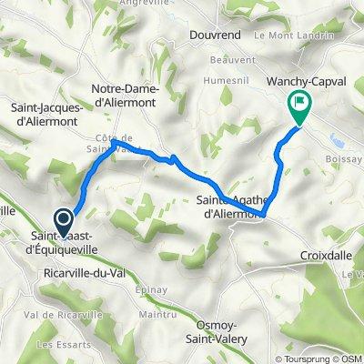 De 1 Rue du Calvaire, Saint-Vaast-d'Equiqueville à 28 Route de Sainte-Agathe, Wanchy-Capval