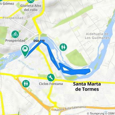 De Paseo del Parque Fluvial, 1–1A, Santa Marta de Tormes a Paseo del Parque Fluvial, 3–9, Santa Marta de Tormes