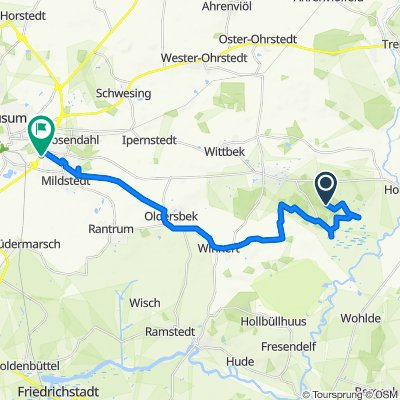 Route nach Eibenweg 4, Husum