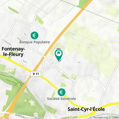 De 3 Rue Jean Moulin, Saint-Cyr-l'École à Rue Robert Desnos, Saint-Cyr-l'École