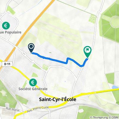 De 4 Rue Jean Moulin, Saint-Cyr-l'École à 130 Rue du Docteur Vaillant, Saint-Cyr-l'École