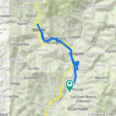 Ruta desde Via Guarumales Méndez, Borrero