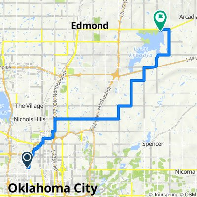 2232 NW 25th St, Oklahoma City to 9000 E Second St, Edmond