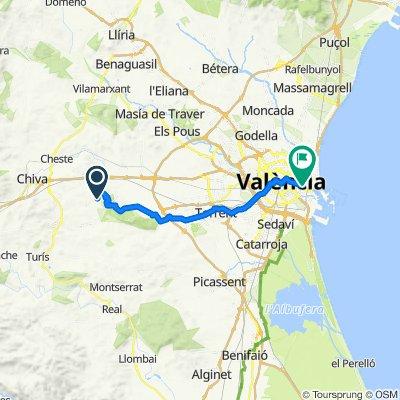 Urbanizacion Bosque U12 378, Chiva to Calle Higinio Professor 22, Valencia