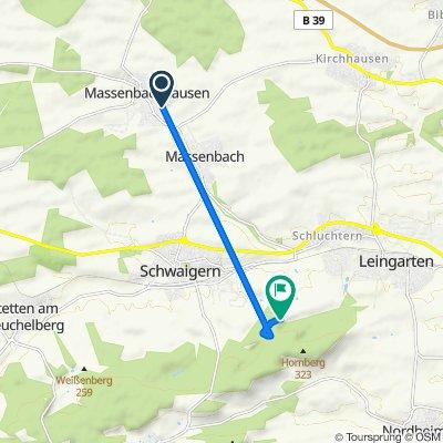 Vogelsangstraße 20, Massenbachhausen nach Leingarten