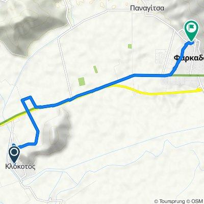 Unnamed Road, Klokotos to Νικολάου Πλαστήρα 1, Φαρκαδόνα