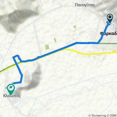 Βασιλίσσης Όλγας, Φαρκαδόνα to Unnamed Road, Klokotos