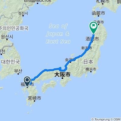 Fukuoka->Akita