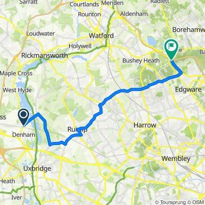 Moorfield Road, Denham, Uxbridge to Edgware Way, Stanmore