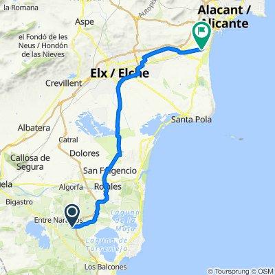 De CV-945, Los Montesinos à Calle de Benijófar, 4–6, Alacant/Alicante