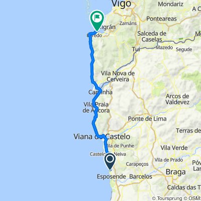 2. Marinhas-Baiona, 82km