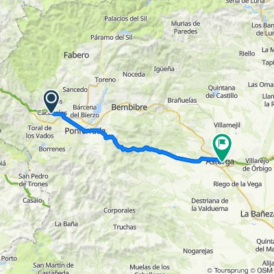7. Caca-Astorga, 70km.