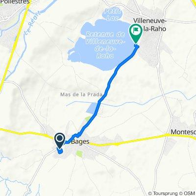 De 12 Impasse du Mistral, Bages à Route de Bages, Villeneuve-de-la-Raho