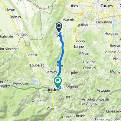 De 5 Rue Louis Pey, Ossun à 3 Chemin du Tydos, Lourdes