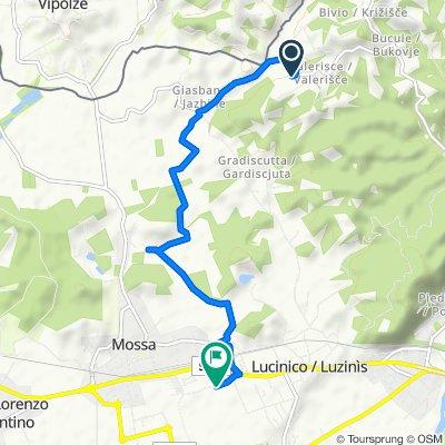 Località Valerisce 19, San Floriano del Collio to Via Giulio Boemo 18, Gorizia