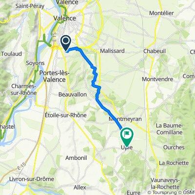 De 478 Chemin des Baumes, Valence à 2 Place des Fleurs, Upie