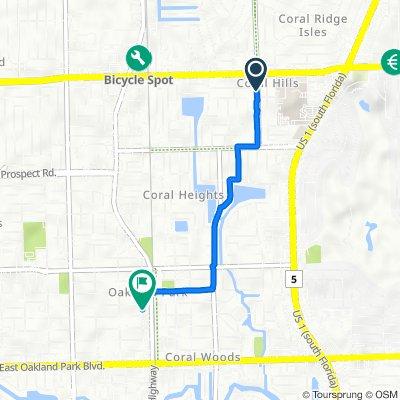 1790 NE 49th St, Fort Lauderdale to 3451 NE 11th Ave, Oakland Park