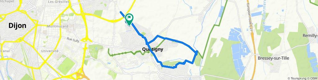 De 43 Place du Suchot, Quetigny à 41 Allée du Suchot, Quetigny