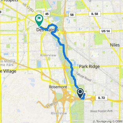 I-190 W, Chicago to 516 Arlington Ave, Des Plaines
