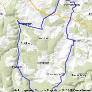 Remchingen - Schwann - Marxzell - Waldbronn
