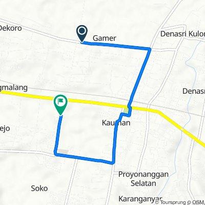 Jalan Mayjend Sutoyo 17, Kecamatan Batang to Jalan Dr.Sutomo 5, Kecamatan Batang