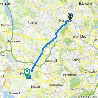 42 Rufford Close, Harrow to World Business Centre Heathrow, Newall Road, Hounslow