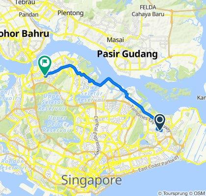 Tampines Street 41 426, Singapore to Woodlands Square 1, Singapore