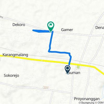 Jalan Wahid Hasim 56, Kecamatan Batang to Jalan Mayjend Sutoyo 72, Kecamatan Batang