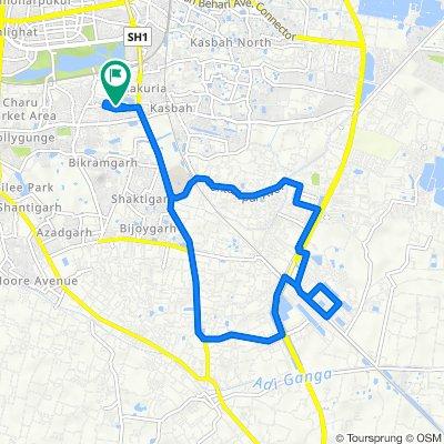 Amateur Cycling route