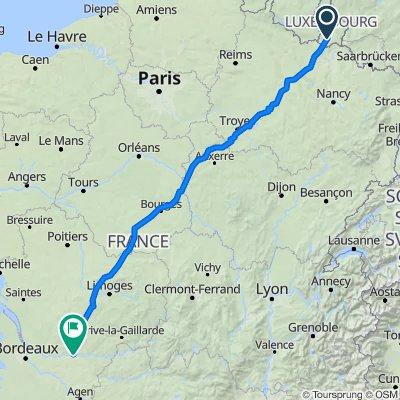 Rue du Lavoir, Leudelange to 24 Rue Neuve d'Argenson, Bergerac