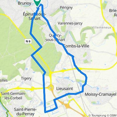 De 11 Rue du Levant, Epinay-sous-Sénart à 7 Villa de la Fosse aux Loups, Epinay-sous-Sénart
