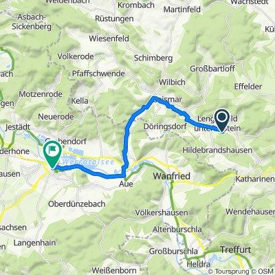 Kirchberg 12, Südeichsfeld nach Reichensächser Straße, Eschwege