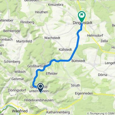 Kirchberg 12, Südeichsfeld nach Anger 10, Dingelstädt